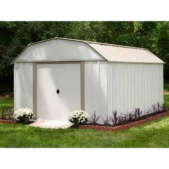 10 W X 20 D Diy Storage Shed Kit In 2020 Metal Storage Sheds Storage Shed Kits Outdoor Storage Sheds