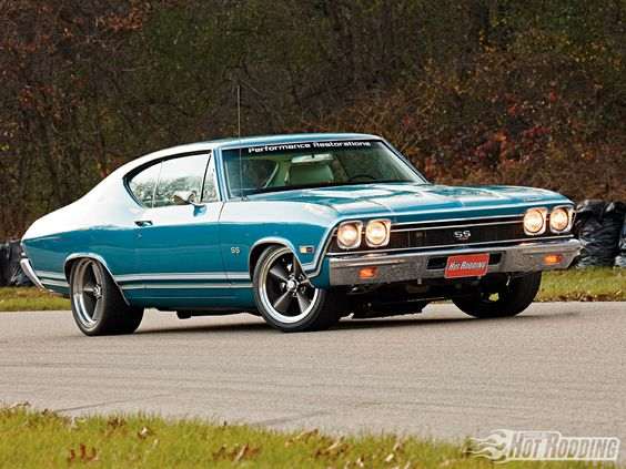 Chevelle  My first car was a brand new 1969  navy blue Chevelle malibu!  I loved it!  And wrecked it the first winter in Cleveland.