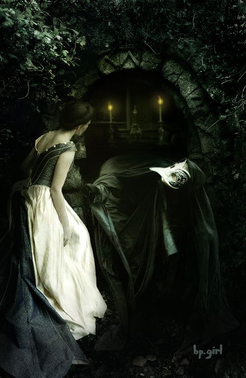 Modern Fairytale/into the darkness/karen cox.  Beauty found the Beast and wished to run away... But upon closer examination, she found... That he was the missing half of herself ~SH