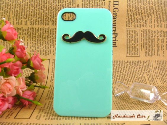 ShinyGift mustache iPhone 4 case...yes please.
