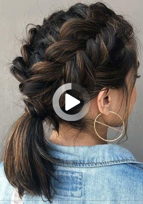 45 Elegant Ponytail Hairstyles For Special Occasions In 2020 Elegant Ponytail Hair Styles French Braid Short Hair