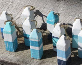 Arte costero de la pared playa náutica reciclado por AlteredNature