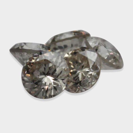 0.25 ctw, 2.30 mm, Champagne, I1 Clarity, Round Brilliant Natural Diamonds Lot  #champagnecolordiamond #loosechampagnecolordiamond