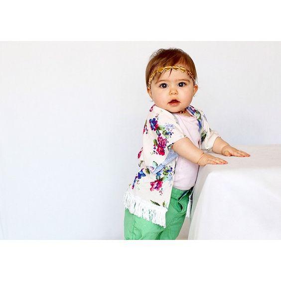 Our Blue Flor Mini Kimono #babyfashion #kidsfashion #babykimono #kimono
