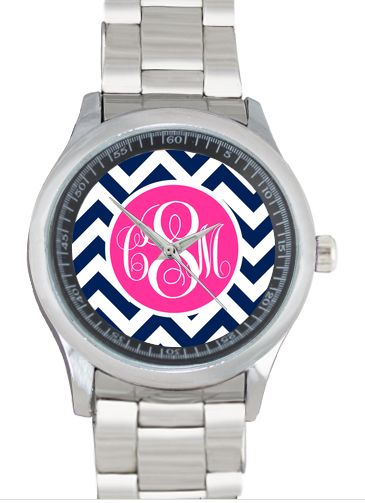 Monogrammed Stainless Steel Boyfriend Watch.