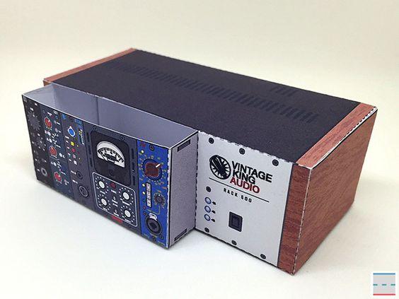 Paper Foldables commission for Vintage King Audio
