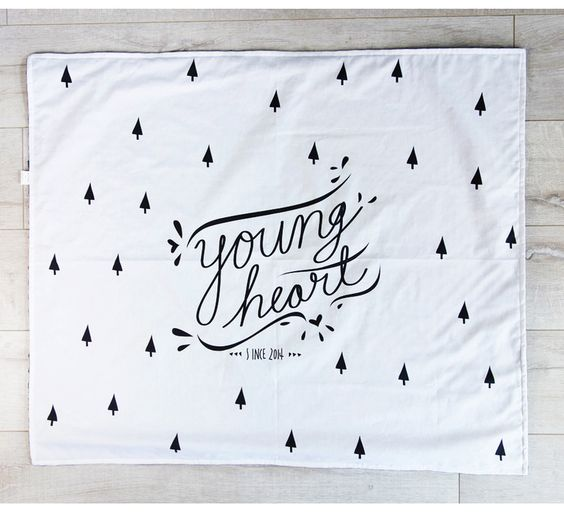 Young Heart toddler or baby blanket at Designed by Artists: