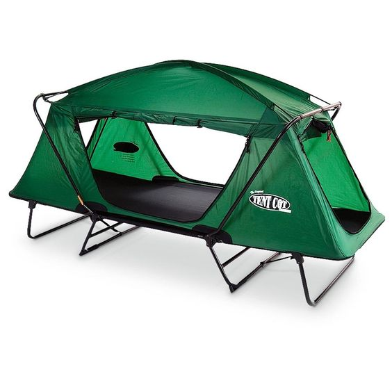 Sportsman Guide - 1 man tent cot converts into a lounge chair for daytime use..how cool is this??