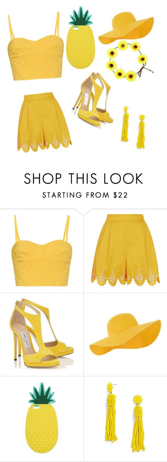 """""""Yellow day"""" by maiadance ❤ liked on Polyvore featuring Tomas Maier, Temperley London, Accessorize, Miss Selfridge and BaubleBar"""
