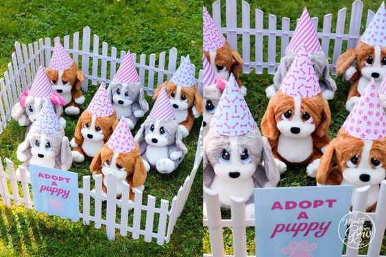 Adopt A Puppy Party Ideas Puppy Adoption Birthday Party Dog Themed Birthday Party Puppy Party Theme