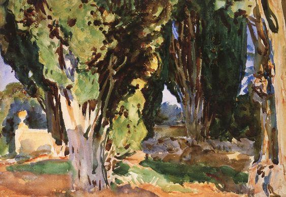 The Athenaeum - Villa Falconieri (John Singer Sargent - ):