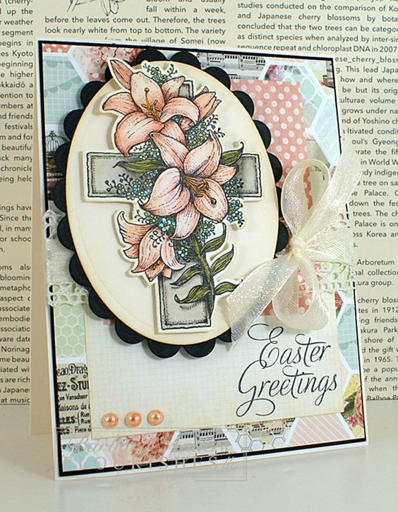 Bar Anders card made with He Is Risen stamp set