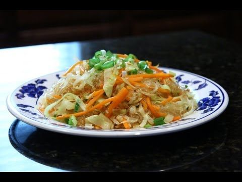 Stir Fried Vermicelli with Vegetables 素炒粉丝 - YouTube