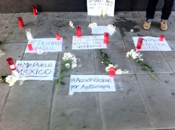 Acción Global por Ayotzinapa San Sebastián-Donostia.