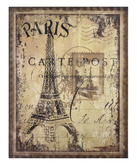 Love this Eiffel Tower Burlap Wall Décor by Stonebriar Collection  on #zulily! #zulilyfinds