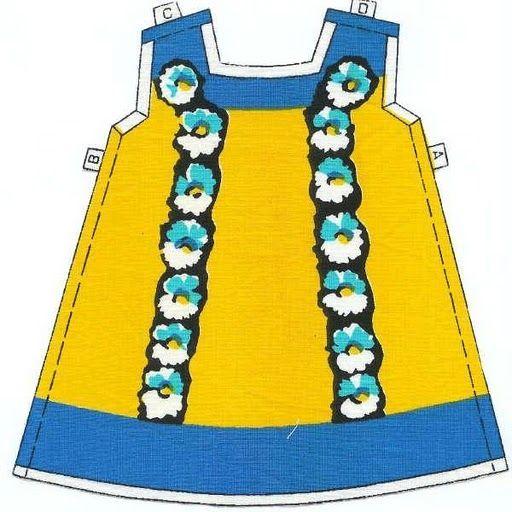 Patrones Vestido amarillo Nancy 1