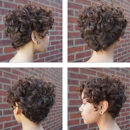 Hairstyle For Curly Hair 2016 Curls For Short Hair Styles Curly Hairstyles For Girls In 2020 Curly Hair Styles Hair Styles How To Curl Short Hair