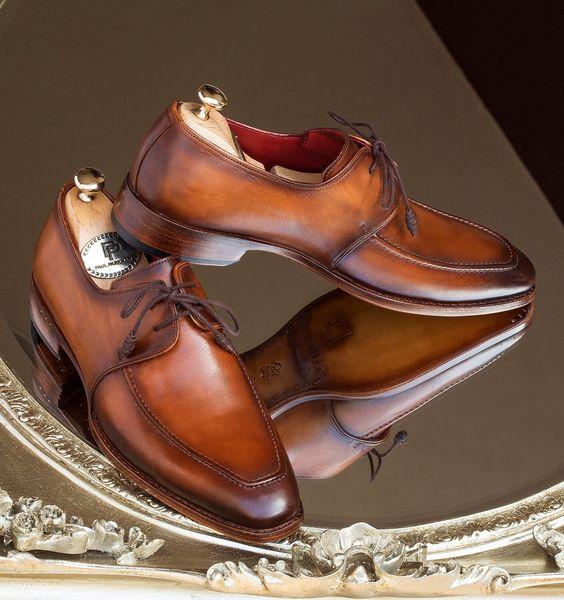 Paul Parkman Goodyear Apron Derby Shoes Brown Website: www.paulparkman.com