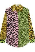 Patchwork animal-print silk shirt | US | THE OUTNET