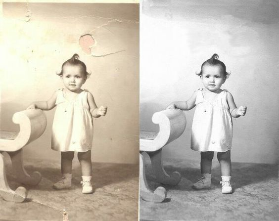 Our photo repair service  restores precious portraits with digital brushes and pens. http://www.fixingphotos.com #photorepair
