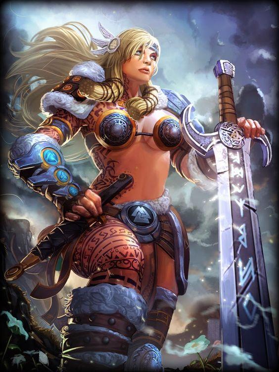 deusas nordicas - Freya (Freyja, Freja, Freia, Freyia, e Frøya, as vezes confundida com a deusa Frigga) é uma das principais deusas da mitologia nórdica.