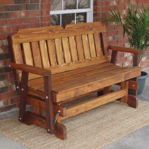 Tmp Outdoor Furniture Victorian Red Cedar Outdoor Glider Rustic Outdoor Furniture Patio Decor Wood Patio Furniture