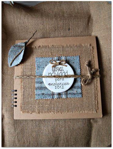 Ideas con tela de saco decorar lbumes de fotos diy - Como decorar un album de fotos ...