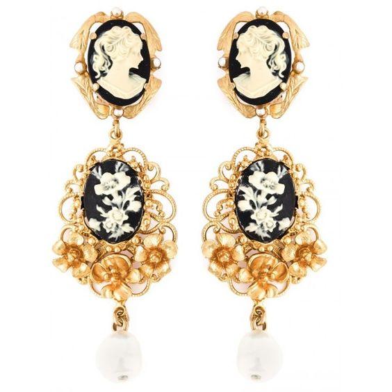 DOLCE & GABBANA cameo earrings