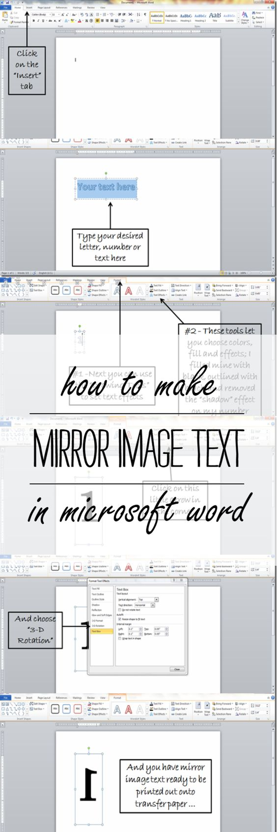 mirror will template - microsoft texts and tutorials on pinterest
