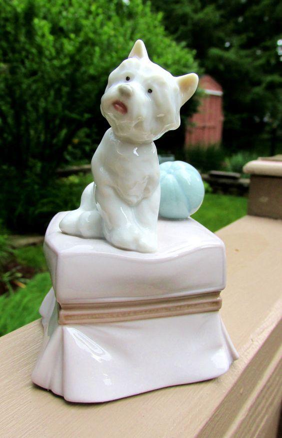 LLADRO Porcelain My Favorite Companion Figurine  Westie #6985