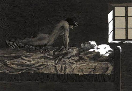"tableau-cauchemar My Dream, My Bad Dream"" de Fritz Schwimbeck:"