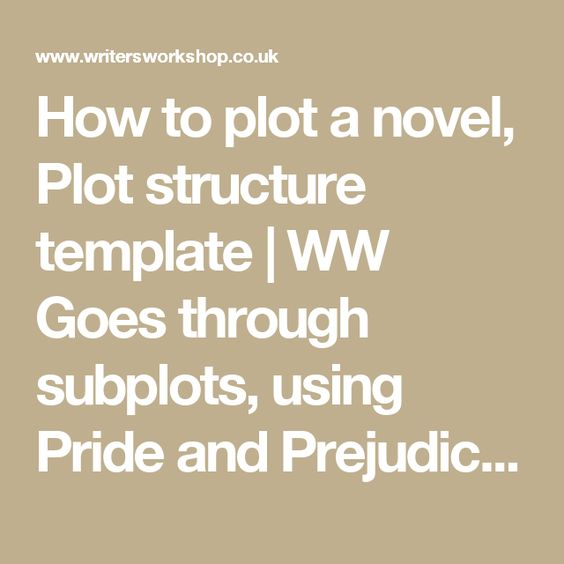 How to plot a novel, Plot structure template   WW Goes through subplots, using Pride and Prejudice as an example