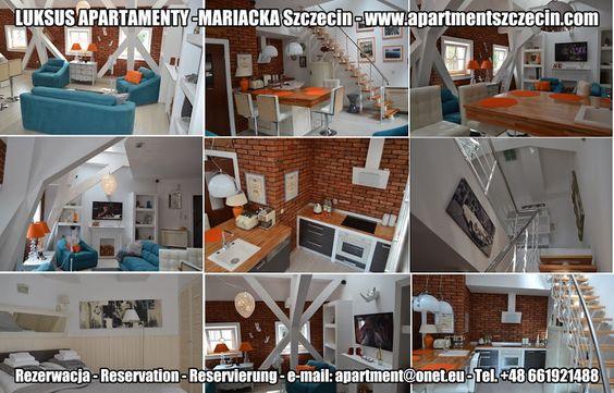 LUKSUS APARTAMENTY -MARIACKA Szczecin Zapraszają do rezerwacji ! Book now ! Buchen Sie jetzt ! Apartament PURPLE 88m2, 3 poziomowy od 1-5 osób Apartament BLACK&WHITE 79m2, 3 poziomowy od 1-6osób Apartament GREY 69m2, 2 poziomowy od 1-4 osób Apartament RED 55m2, 2 poziomowy od 1-3 osób Apartament GRAND ROYAL 40m2, 1 poziomowy od 1-3 osób Apartament POP Art 32m2, 1 poziomowy od 1-4 osób www.szczecinapartamenty.eu www.apartmentszczecin.pl e-mail: apartment@onet.eu