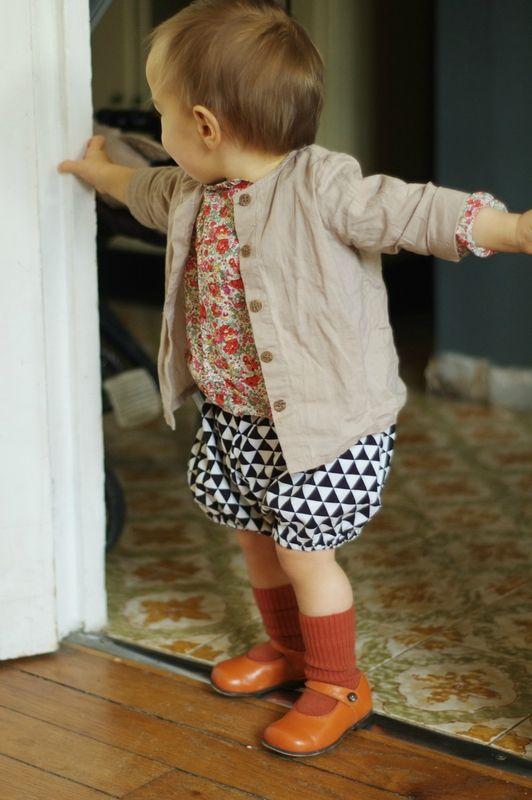 La Princesse au Petit Pois bloomer and pumpkin shoes by Start Rite pour Bonton Babies - La Chataigne