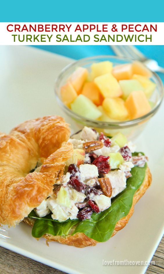 Turkey salad sandwiches recipe turkey salad sandwich for How to make leftover turkey sandwich