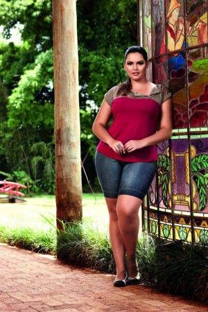 Bermuda Jeans Plus Size Martingale