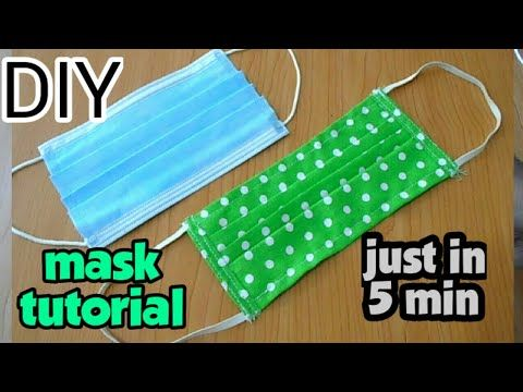 How To Make A 5 Minute Face Mask Small Sewing Projects Sewing