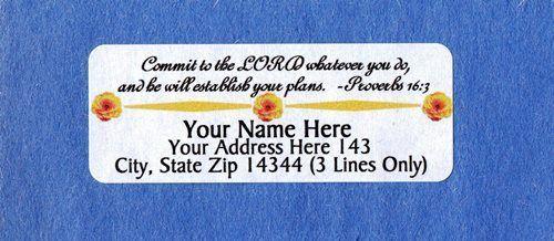 Cross Design#6-Personalized Address Labels 30PCS