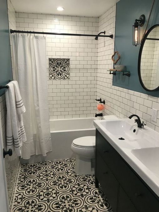 45 Lies You Ve Been Told About White Subway Tile Bathroom Dark Grout Paint Colors 51 In 2020 White Subway Tile Bathroom Bathroom Remodel Master Small Master Bathroom