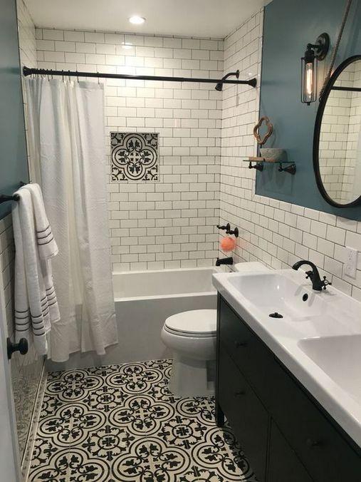 Bathroom Paint Color Ideas Inspiration Benjamin Moore In 2020 White Subway Tile Bathroom Small Master Bathroom Shower Remodel