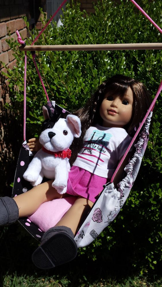 American Girl doll Swing Hammock For grace von Beautifuldollbedding