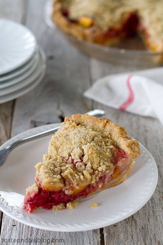 Peach Melba Pie - The perfect way to enjoy summer fruit, this pie brings together peaches and raspberries in a must make summer pie.