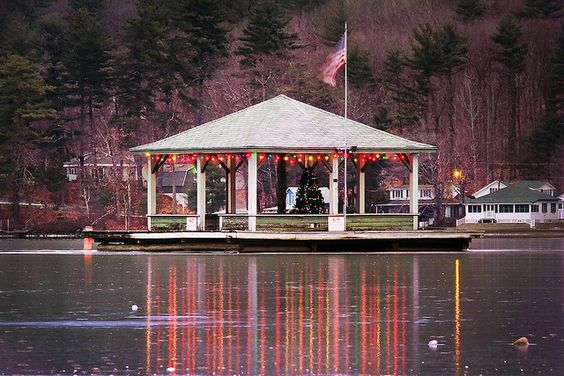 Bandstand, Alton Bay New Hampshire Winter Scenes Pinterest - ausgefallenen mobel allan lake skulpturell