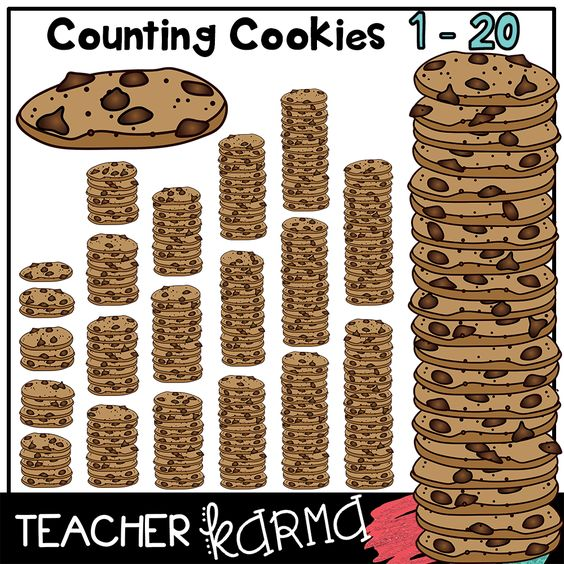 Counting Cookies * Chocolate Chip Cookie Math Manipulatives ...