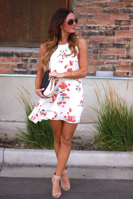 Floral dresses: