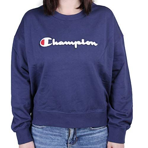 Champion Damen Sweatshirt Crewneck Sweatshirt Größe:S Farben