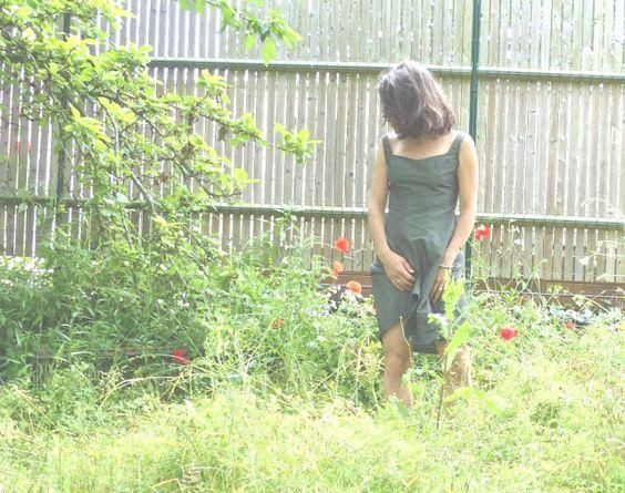 Lathelize: Vert jungle - une robe = le décolleté
