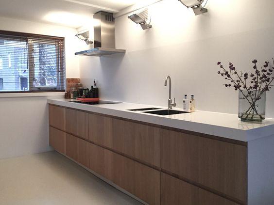 Modern en scandinavisch/industriële keuken. Gemaakt op basis van ...
