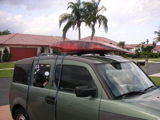 How To Properly Strap A Boat To A Roof Rack Kayak Roof Rack Canoe And Kayak Kayak Camping
