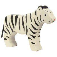 Holztiger Tiger weiß